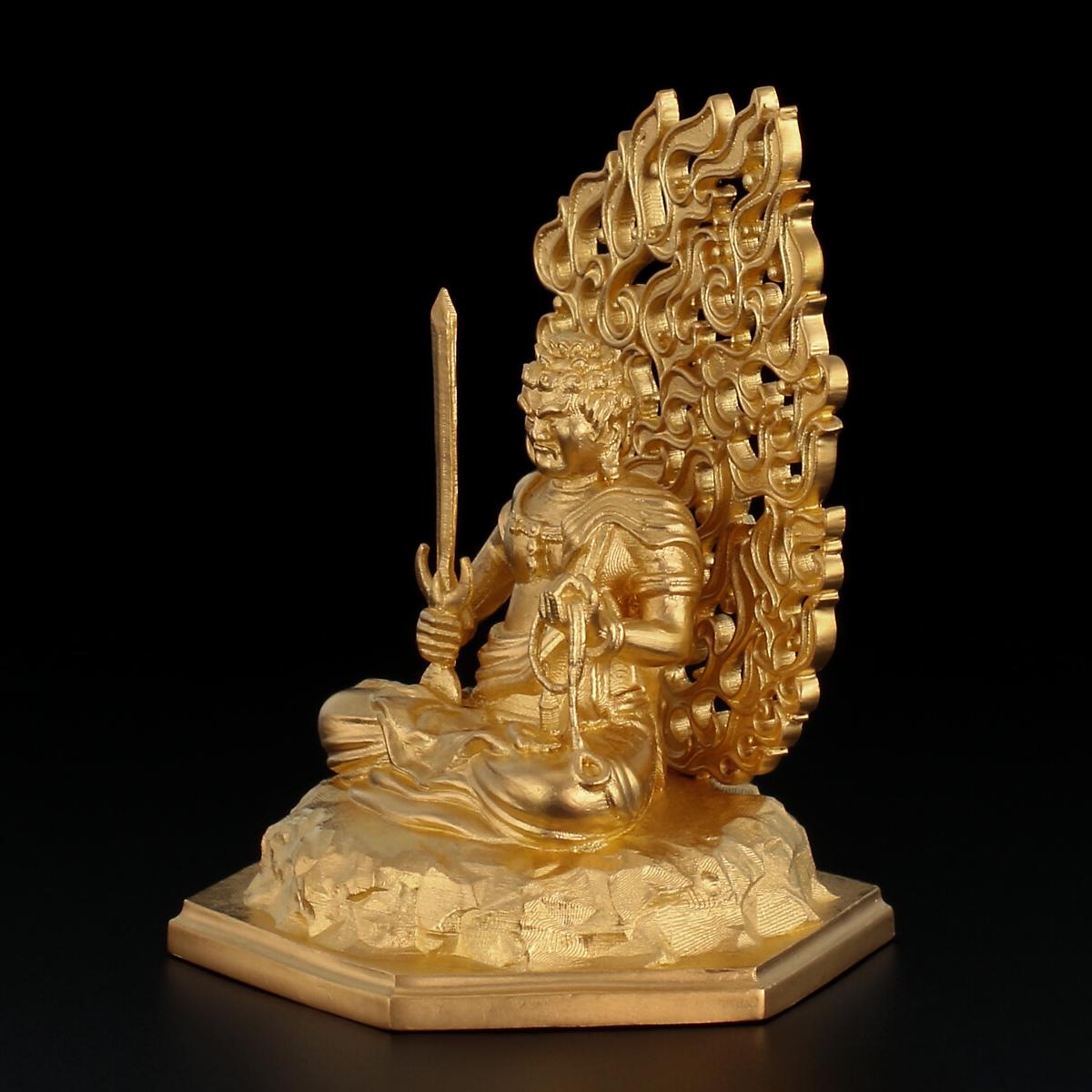 純金製 不動明王座像