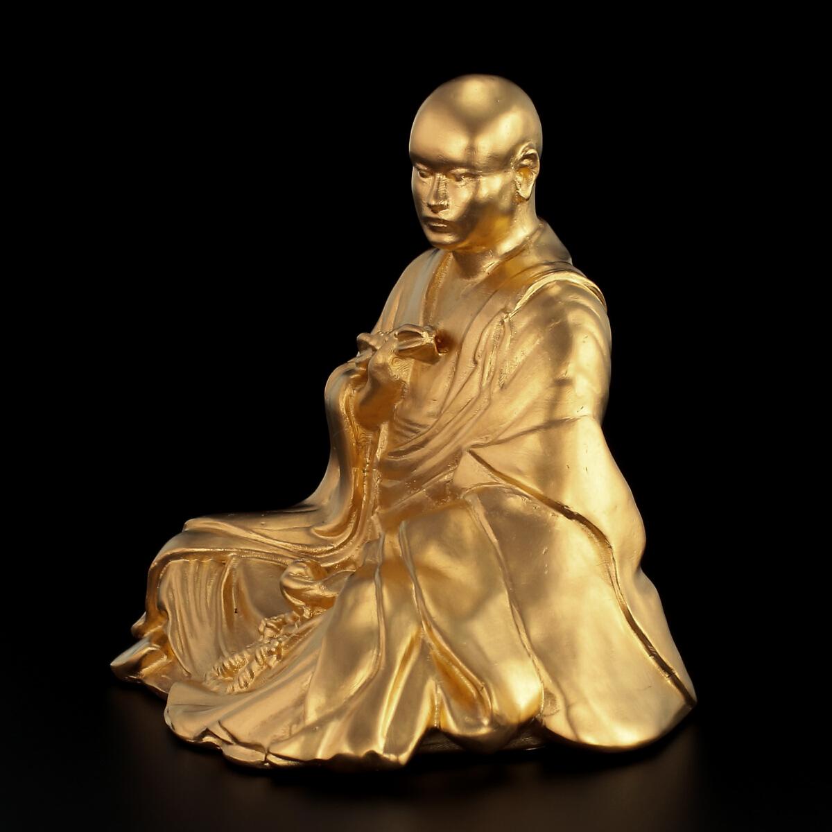 純金製 弘法大師
