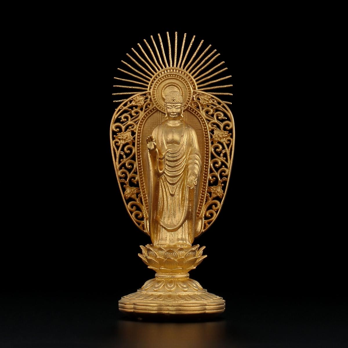 純金製 阿弥陀如来像 西